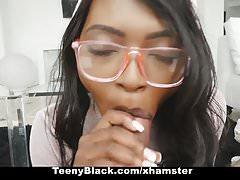 TeenyBlack - Hot Ebony Girlfriend Fucked While Studying
