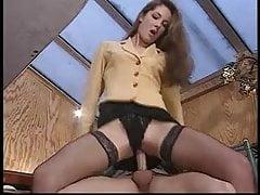 Brunette anal
