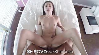POVD Strip tease and fuck with boss for Kharlie Stone