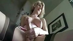 Beautiful Tranny Jerks Her Cock
