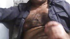 Very sexy turkish bear jerking off