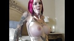 Super hot redhead masturbating