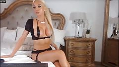 Sexy blonde teasing on cam