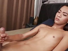 Ladyboy in red solo