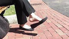 Candid Feet Dangle Shoeplay Flats Outdoor