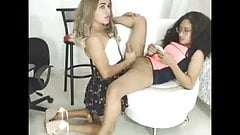 Hot blonde shemale suck brunette shemale
