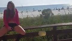 Flashing near the beach