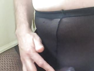 Preview 6 of Wanking and cumming in my wife's tights