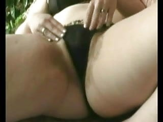 Fat BBW GF masturbating her hairy Pussy after watching Porn
