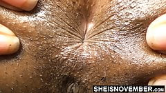 Sphincter Ass Hole Close Up Black Babe Butt Tiny Butthole