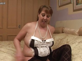 Chubby British housewife and her old cunt