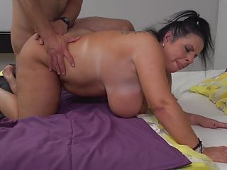 Mature 52YO mom Abby Tits having sex with son