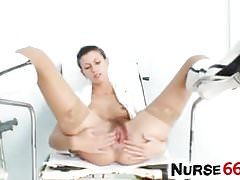 Amanda Vamp a naughty nurse got hairy vagina