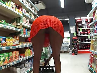 Walking naked and shopping
