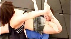 tough girl crushes her opponent