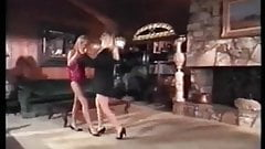 Vintage Girl-Girl Scene With a Great Actress.