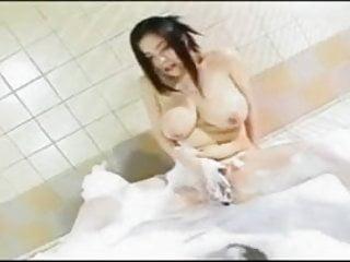 Big Tits Japanese Asian Fingering Masturbation Bubble Bath