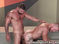 RagingStallion Hunky Redhead Rides Cock with Ass