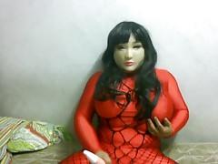 female mask vibrating