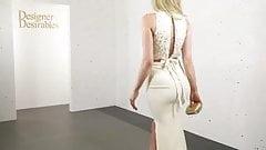 nice ass long white dress