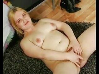 Cute Fat Chubby Blonde GF showing her plump body