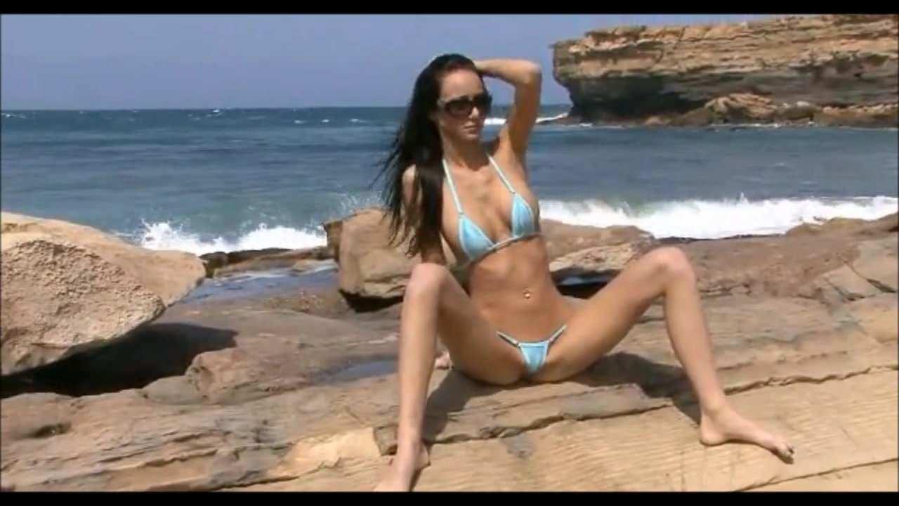 Bikini Pleasure-black Hair Girl blue Bikini