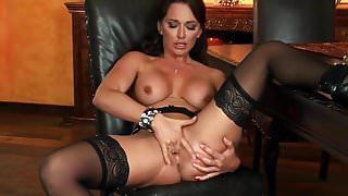 Babe In Stockings Fingering Pussy by FetishGreg88