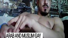 Handsome muscled Arab macho fucker jerking off - Arab Gay