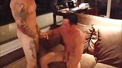 Steaming sex quartet with Barrett Long
