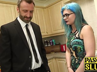 Remarkable, sub and smashed rough blonde with cured cum by uk cock theme