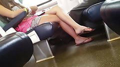Sexy Legs & Feet in Train