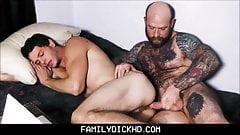 Jock Step Son & Bear Step Dad Webcam Fuck Together