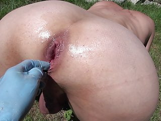 Outdoor fisting, double fisting by Lady Jane