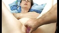 Wet Shaved Amateur Milf With Glasses Dildo Fuck Home Sextape