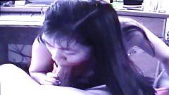 Sexy Filipina Babe Sucks Big White Dick On Webcam