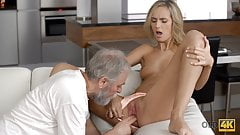 OLD4K. Young wife enjoys pleasurable morning with old husban