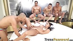 Hung tbabe gets the best gangbang in her life