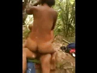 18yo Brazilian Couple Hidden Fuck In The Jungle