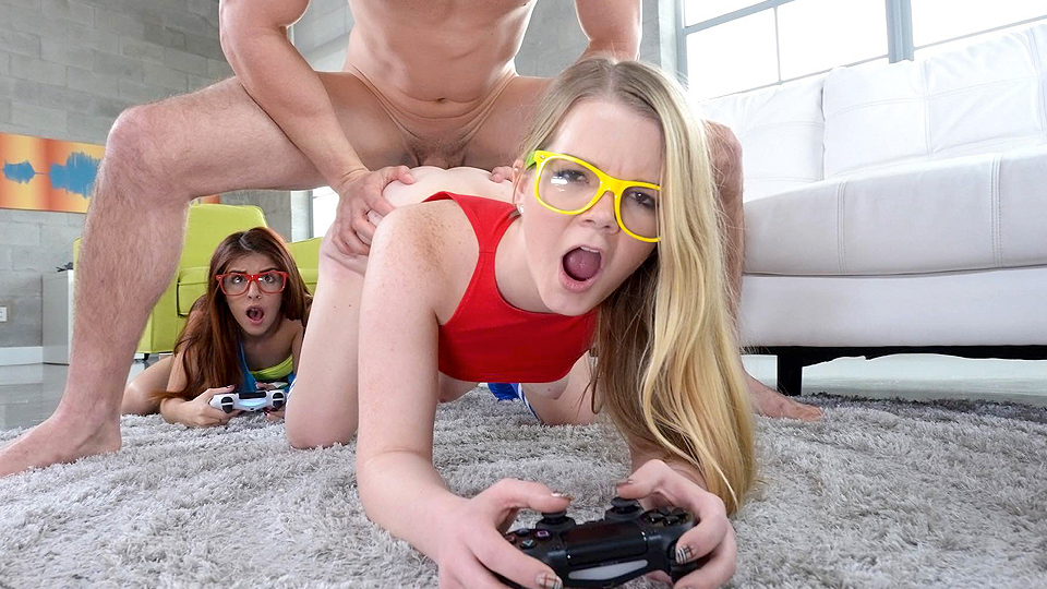These two teenagers wished some gaming time