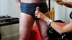 M Whipstress whips my cock knob 2 of 3