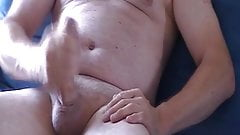 Two hand wank with cum rubbed into my thick cock