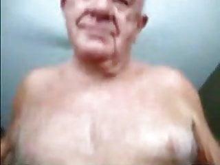 Old grandpa smile