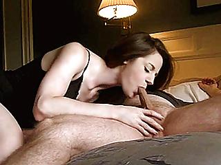 Slutty amateur girlfriend sucks and fucks with creampie cum
