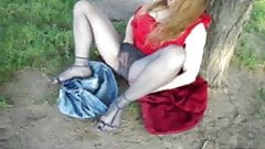 Redhead MILF Lady Holly Gets Risky Outdoors