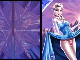Sekushilover Disney Elsa Vs Naked Elsa