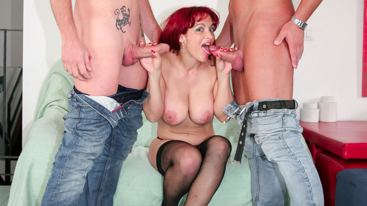 LETSDOEIT - Italian Slut Wife Bangs Her Husband and Friend