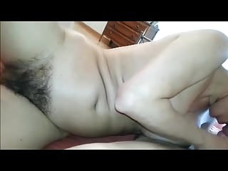 Hairy milf with big hairy bush blows