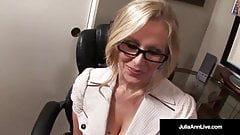 Office Milf Julia Ann Sucks Cock & Gets Hot Sticky Facial!