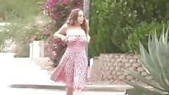 Busty Girl Runs Topless