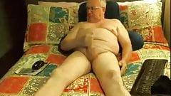 Daddy strokens on cam